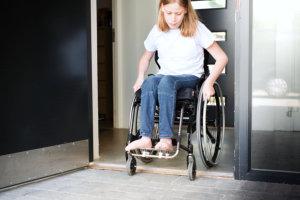 teen on wheelchair